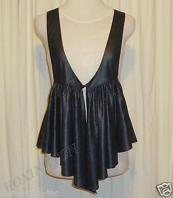 AU99.99 • Buy Beautiful Sass&bide Charcoal Black Relaxed Fit Pleated Vest Aus 10/12