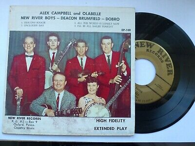 £10 • Buy Alex Campbell 45 Ep 'deacon's Boogie' Usa New River 1962 Bluegrass Country Vg+