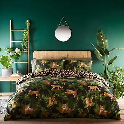 £21.95 • Buy Leopard Print Duvet Covers Jungle Cats Tropical Easy Care Quilt Cover Bedding