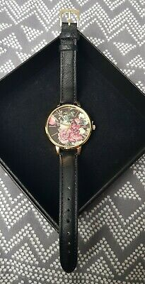 £14 • Buy New Look Watch. Working. Black Strap, Gold Hardware And Floral Face. Brand New.