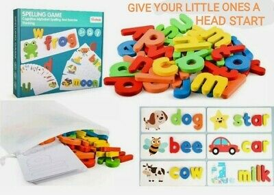 AU16.67 • Buy Spelling Game Puzzle Early Educational Preschool Great Fun Toy For Kids Wooden