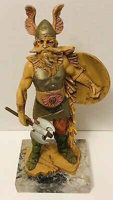 """£43.80 • Buy Viking 10.5"""" Collectible Figurine Statue Depose Italy 217 Marble Base"""
