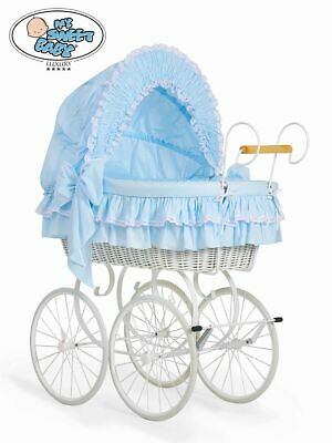 £309 • Buy My Sweet Baby Wicker Crib Moses Basket - Pink,Blue,White,Cream  FAST DELIVERY