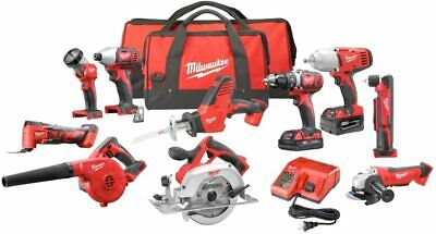 £1082.16 • Buy Milwaukee Combo Cordless Kit (10-Tool) With (2) Batteries, Charger Full Tool KIT
