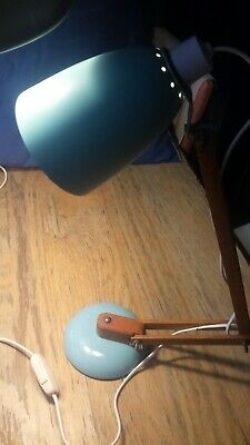 £175 • Buy Vintage Habitat Terence Conran Anglepoise Desk MacLamp Duck Egg Blue Rewired GWO