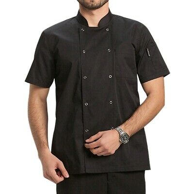 $20.79 • Buy Chef Jacket Uniform Traditional Buttons Short Sleeve Hotel Kitchen Worker Coat