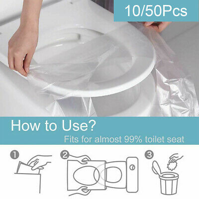£1.59 • Buy 10/50pcs Pack Disposable Toilet Seat Covers Paper Travel Biodegradable Sanitary