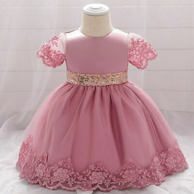 £19.89 • Buy Baby Flower Infant Girl Party Occasion Wedding Communion Christening Dress Gown