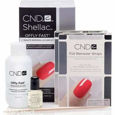 £15.50 • Buy 2 X CND Shellac Offly Fast Minute Nail Polish Removal & Care (2 KITS)