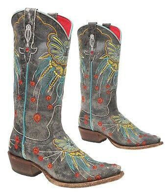 $121.99 • Buy MACIE BEAN Cowboy Boots 6 M Womens Distressed Leather BUTTERFLY Western Boots