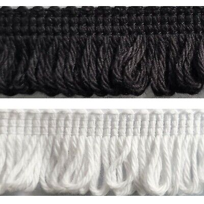 £2.99 • Buy 20mm Mini Cotton Loop Fringe Chainette Sewing Crafts Lampshades Edging Curtains