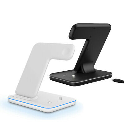AU32.99 • Buy AU 3in1 15W Qi Wireless Charger Dock Stand For Apple AirPods IWatch IPhone 12 11
