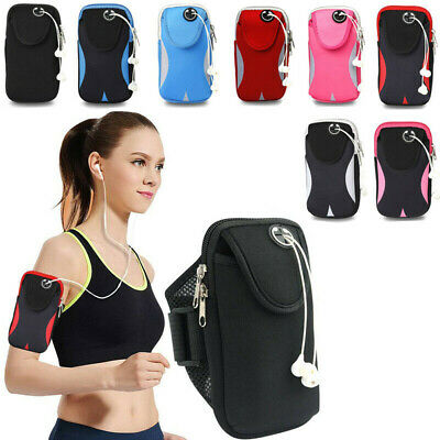 £6.47 • Buy Running Sports Gym Armband Arm Band Bag For Mobile Phones Keys Wallet Case Pouch
