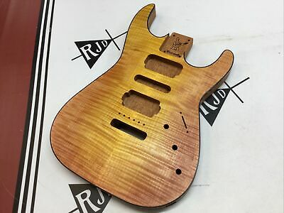 $390 • Buy Warmoth Soloist Electric Guitar Body Mahogany Flame Maple Bound Drop Top