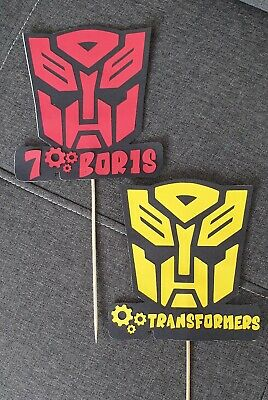 £5.50 • Buy PERSONALISED Robot/ AUTOBOTS  ANY NAME/AGE BIRTHDAY CAKE TOPPER
