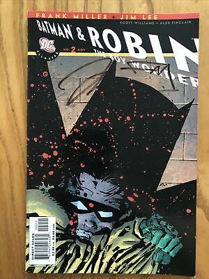£25 • Buy Batman & Robin: The Boy Wonder #2 Double Signed By Frank Miller And Jim Lee