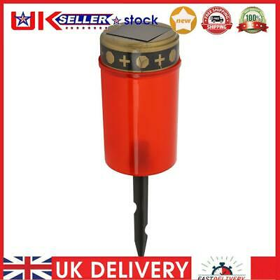 £7.01 • Buy Solar Power Grave Lawn Light Flameless Electronic LED Candle Lamp (Red)