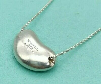 £92.12 • Buy Authentic Tiffany & Co. Bean Pendant Necklace Sterling Silver 15~16inch