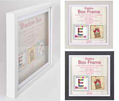 £7.99 • Buy Black Grey Or White Shadow Box Frame Deep 3D Box Display Picture Frames 5 Sizes