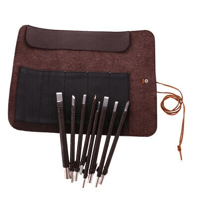 £16.88 • Buy 8pcs Tungsten Steel Stone Carving Sculpting Kit Hand Chisel Tool Set