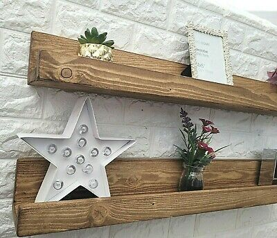 £25.99 • Buy Solid Wood Picture/Photo/Books Shelf Ledge Handmade Shelves -Colours Available