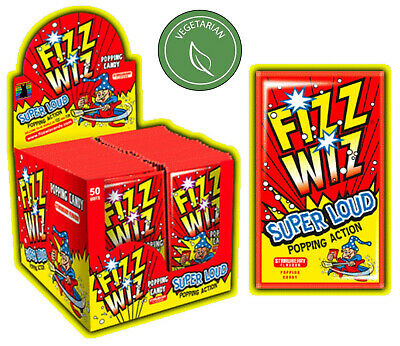 £2.95 • Buy Fizz Wiz STRAWBERRY POPPING CANDY VEGETARIAN Retro Sweets SUPER LOUD Space Dust