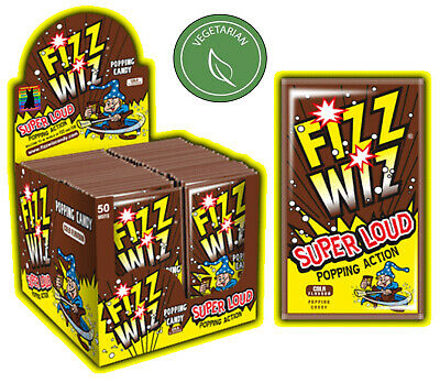 £2.95 • Buy Fizz Wiz COLA POPPING CANDY Retro Sweets SUPER LOUD Space Dust Wizz Party Bags