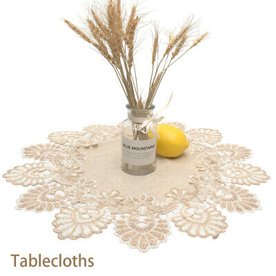 AU13.79 • Buy Embroidered Decoration Kitchen Table Cloth Cover Round Lace Dining Room Home