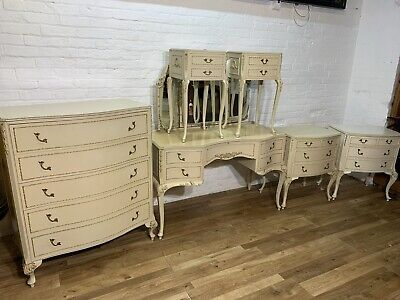 £650 • Buy Vintage French Louis Style Bedroom Set Chest   Dressing Table.Delivery Available