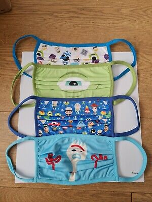 £5 • Buy *NEW* Official Disney Store Pack Of 4 Cloth Face Masks - L