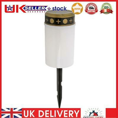 £7.01 • Buy Solar Power Grave Lawn Light Flameless Electronic LED Candle Lamp (White)