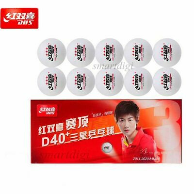 AU17.95 • Buy 10x DHS 3-Star Table Tennis Ping Pong Balls D40+ ABS Plastic Balls Free Poatage