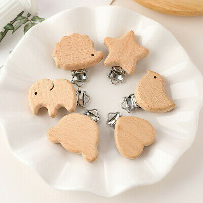 AU11.99 • Buy 5/10PCS Baby Pacifier Dummy Clip DIY Clasps Teething Toys Chain Wooden Accessory