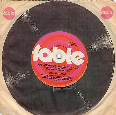 £21.66 • Buy Bill And Boyd Put Another Log On The Fire Australia Original 70s Fable Single