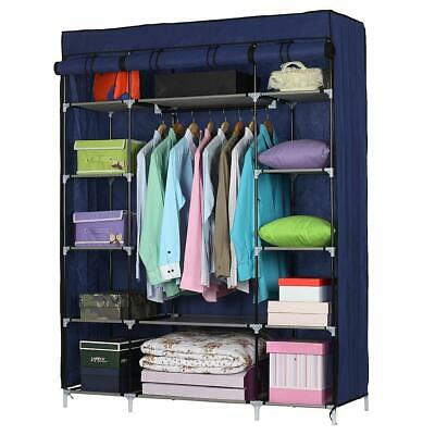 £16.85 • Buy Non-woven Fabric Wardrobe Portable Closet 5 Layers 12 Compartment Hanging Rods