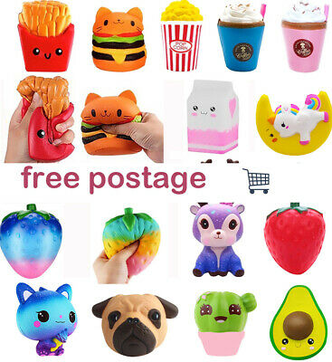 AU9.39 • Buy Jumbo Slow Rising Soft Scented Squishys Squeeze Toy Reliever Stress Gifts