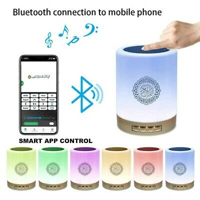 £18.99 • Buy Quran Speaker Player Touch LED Lamp APP Control Wireless Bluetooth MP3 Speaker