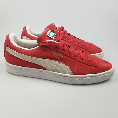 AU59.99 • Buy Men's PUMA 'Suede' Sz 8.5 US Shoes Red White VGCon Leather | 3+ Extra 10% Off