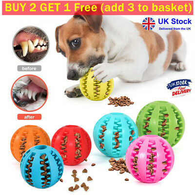 £3.99 • Buy Pet Dog Puppy Rubber Chew Ball Rubber Ball Teething Durable Treat Clean Toys