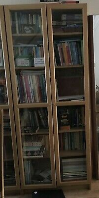 £115 • Buy Billy / Oxberg  Bookcase With Panel / Glass Doors