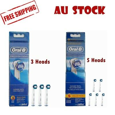 AU13.99 • Buy Oral B PRECISION CLEAN REPLACEMENT Electric TOOTHBRUSH HEADS Value Pack 3/5 Pack