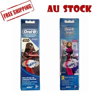 AU11.99 • Buy Oral-B Stages Frozen Star Wars Replacement Toothbrush Heads Refill Kids