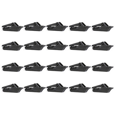 £3.95 • Buy 20 PCS Awning Tarp Clips Set Black Buckle Camping Tool  Tent Clamp Heavy Duty
