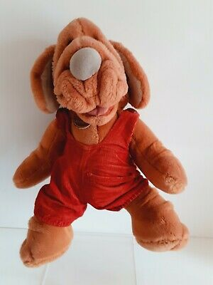 £14.99 • Buy Vintage 1981 Ganzbros Wrinkles The Dog Hand Puppet Soft Toy 80s 16 Inches High