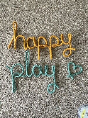 £1.10 • Buy Knitted Wire Word Name Sign Nursery Decor Home Wall PER LETTER