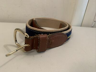 $15.99 • Buy  Zep Pro Belt Mahi Leather And Canvas Made In USA Size 32