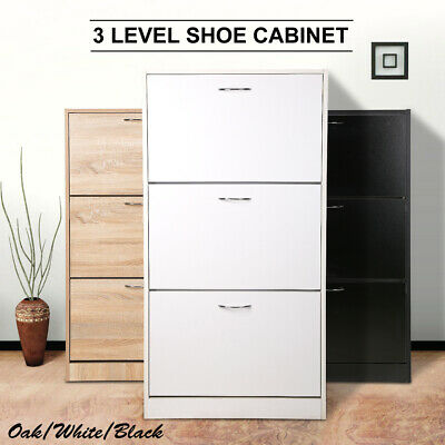 AU73.15 • Buy 3 Level Shoe Cabinet Drawers Shoes Organiser Storage Rack Cupboard Up To 18 Pair
