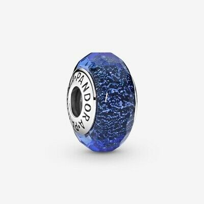 AU32.99 • Buy PANDORA Faceted Blue Murano Glass Charm 791646