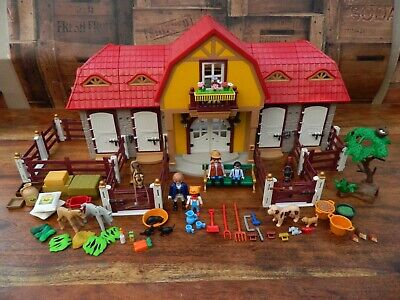 £64.95 • Buy Playmobil 5221 Large Horse Farm Stable With Paddock