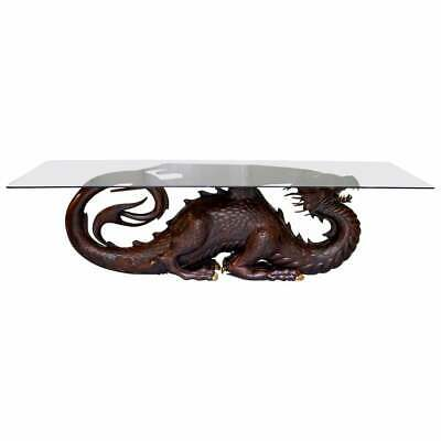 £10000 • Buy Rrp £22000 Mahogany Neil Busby Dragon 12 Person Dining Table Ruby Eyes 22ct Gold